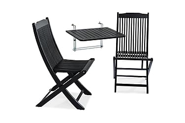 Balkongbord Dalarö 60x52x52 + 2 Klappstolar