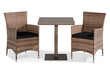 Caféset Bahamas 70x70 + 2 Thor Fåtölj m Dyna