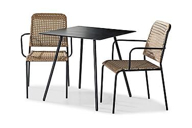 Caféset Tahiti 75x75 + 2 Stolar