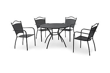 Cafégrupp Hillerstorp Glimminge 100 Rund+4 Smidestolar