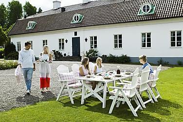 Matgrupp Hillerstorp Bullerö 90x200 + 6 Positionsstolar