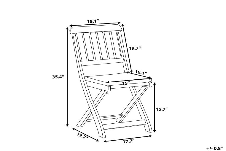 Trädgårdsmöbelset Med Bord+6 Stolar Cento - Trä Natur - Utemöbler - Matgrupper utomhus - Kompletta matgrupper