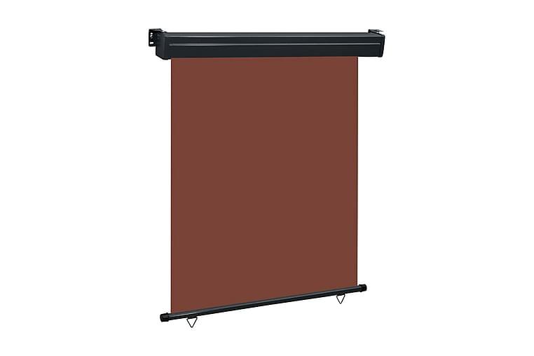 Balkongmarkis 140x250 cm brun - Brun - Utemöbler - Solskydd - Markiser