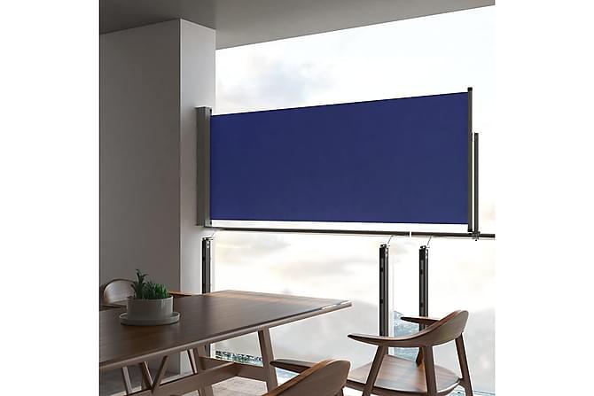 Infällbar sidomarkis 100x300 cm blå - Blå - Utemöbler - Solskydd - Markiser