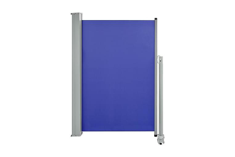 Infällbar sidomarkis 120x300 cm blå - Blå - Utemöbler - Solskydd - Markiser
