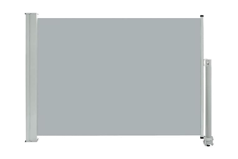 Infällbar sidomarkis 80x300 cm grå - Grå - Utemöbler - Solskydd - Markiser