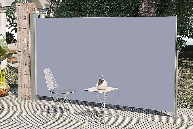 Infällbar sidomarkis för uteplats 160 x 300 cm grå - Grå - Utemöbler - Solskydd - Markiser