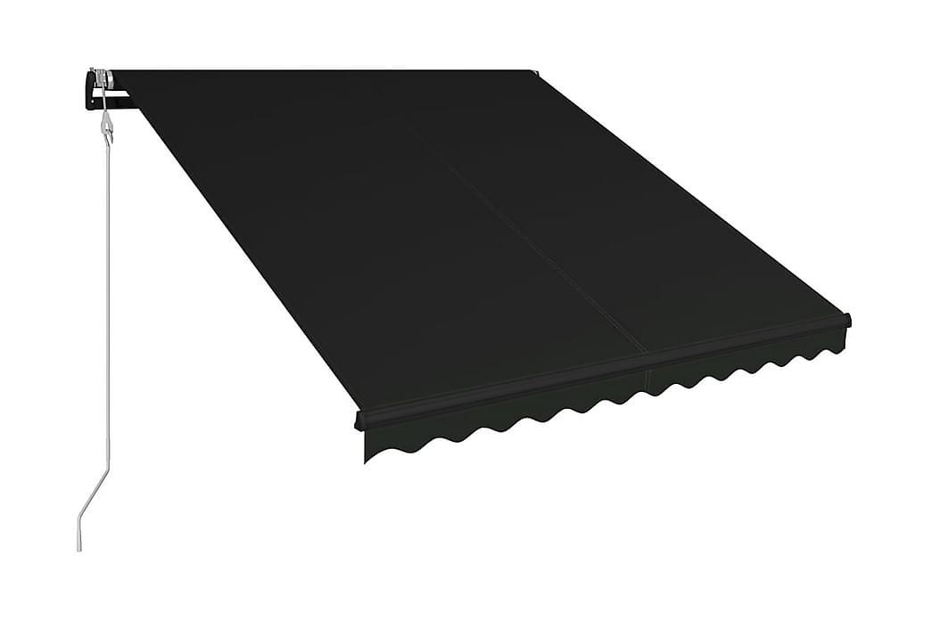 Markis automatiskt infällbar 300x250 cm antracit - Grå - Utemöbler - Solskydd - Markiser