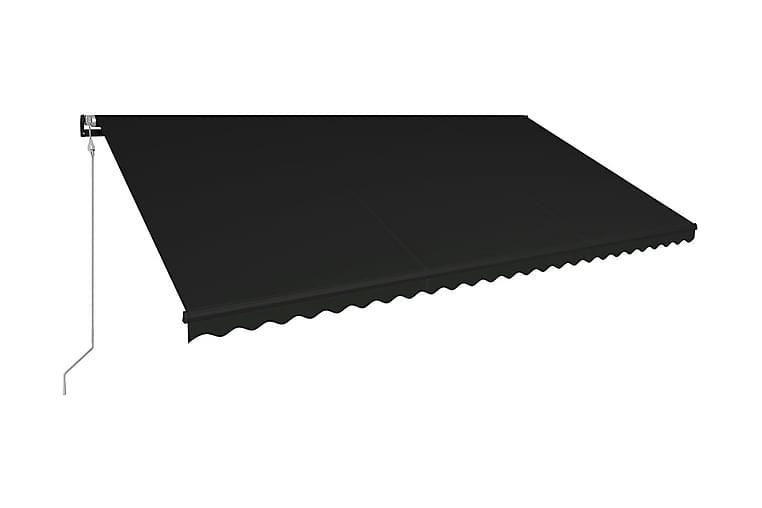Markis automatiskt infällbar 600x300 cm antracit - Grå - Utemöbler - Solskydd - Markiser