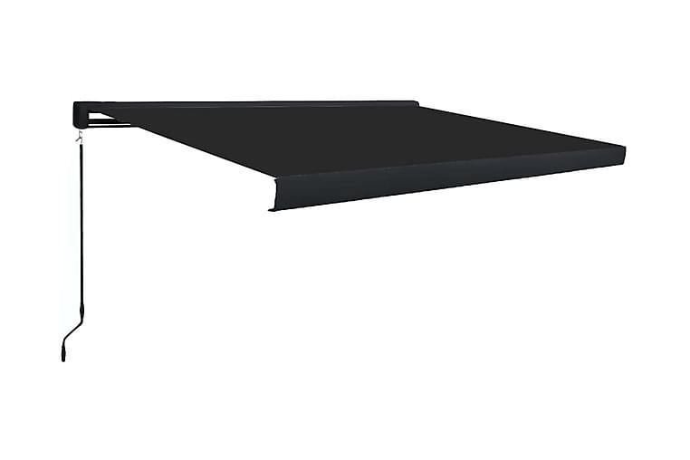 Markis manuell 450x300 cm antracit - Grå - Utemöbler - Solskydd - Markiser