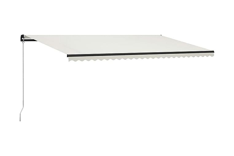 Markis manuellt infällbar med LED 600x300 cm gräddvit - Kräm - Utemöbler - Solskydd - Markiser