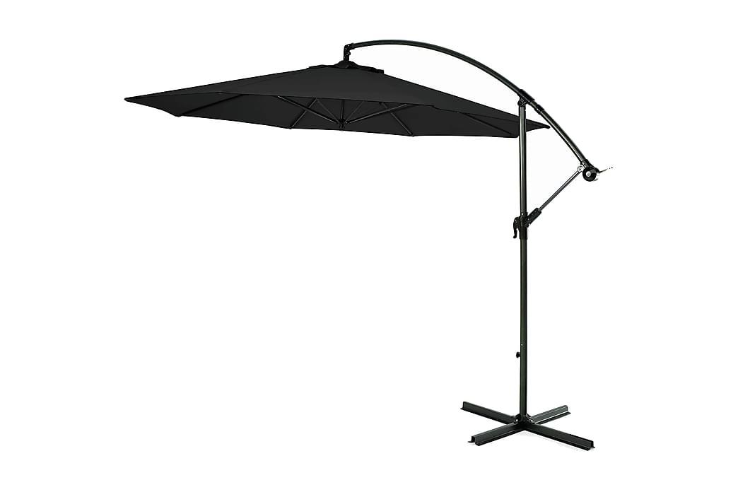 Hängparasoll 300cm - svart - Utemöbler - Solskydd - Parasoller