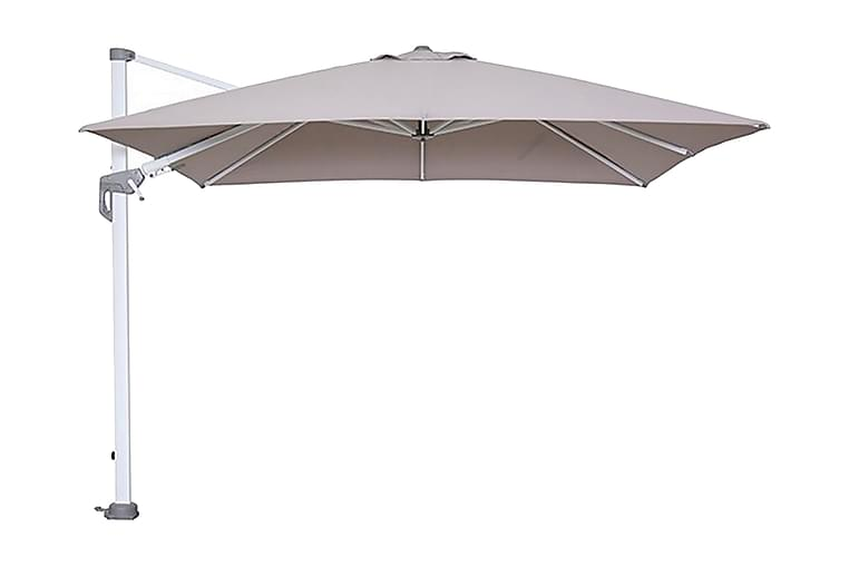 Parasoll Hawaii 300x300 cm Vit/Sand - Garden Impressions - Utemöbler - Solskydd - Parasoller