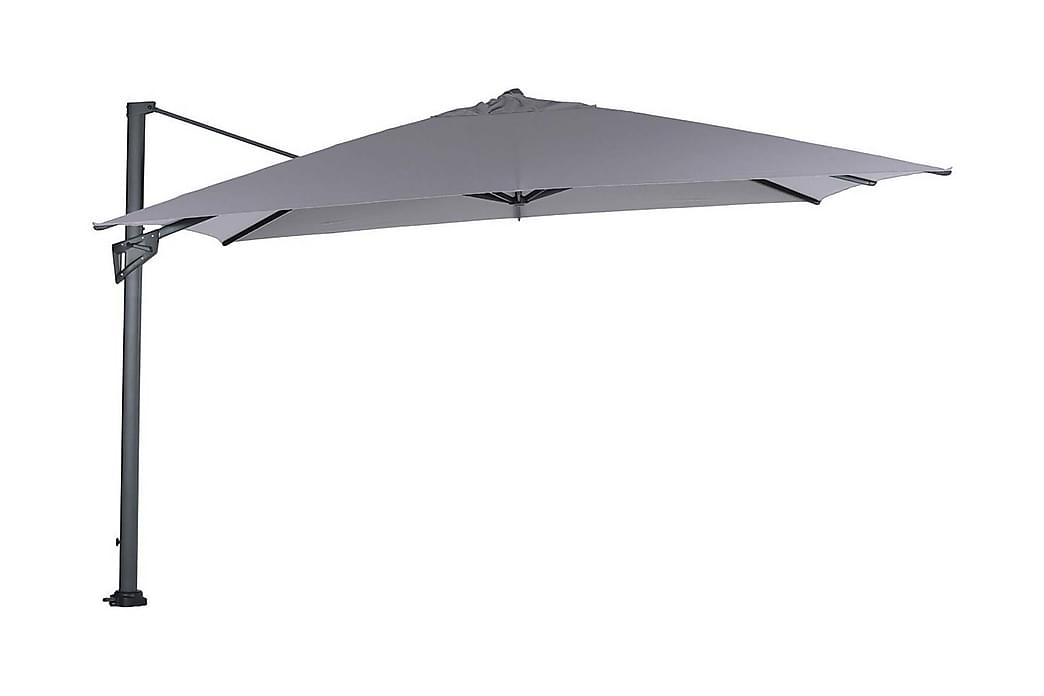 Parasoll Hawaii King Pole 400x400 cm Svart/Ljusgrå - Garden Impressions - Utemöbler - Solskydd - Parasoller