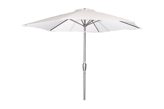 Parasoll Manchester 300 cm - Vit/Svart - Utemöbler - Solskydd - Parasoller