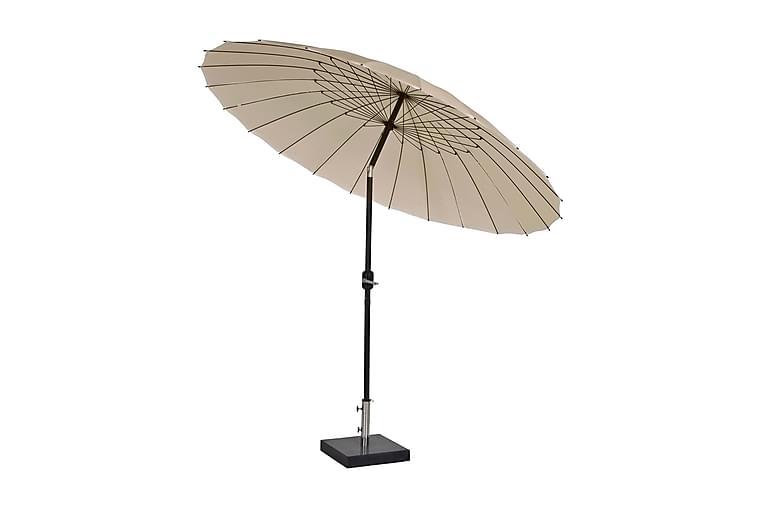 Parasoll Shanghai 270 cm - Beige - Utemöbler - Solskydd - Parasoller