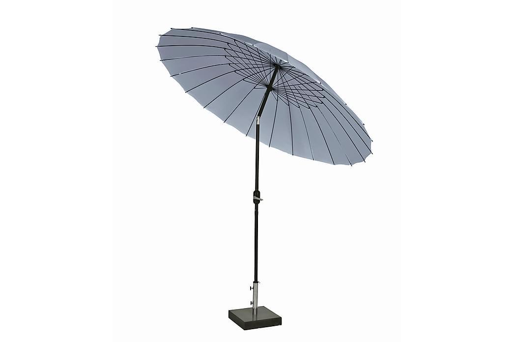 Parasoll Shanghai 270 cm - Grå - Utemöbler - Solskydd - Parasoller