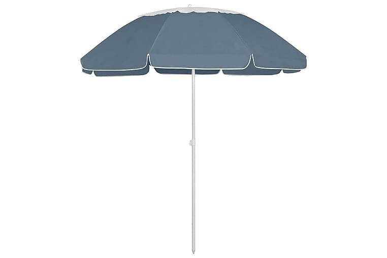 Strandparasoll blå 300 cm - Blå - Utemöbler - Solskydd - Parasoller