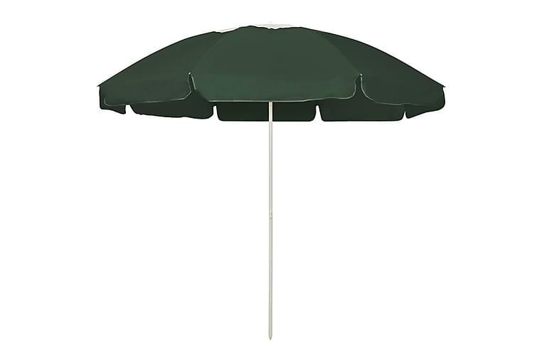 Strandparasoll grön 240 cm - Grön - Utemöbler - Solskydd - Parasoller