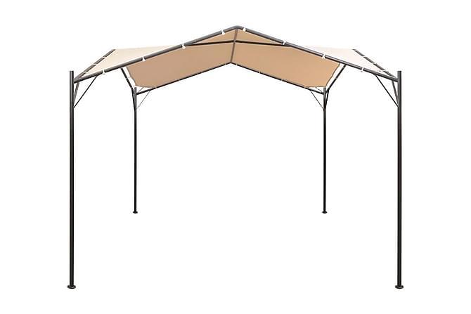 Paviljong 3x3 m stål beige - Beige - Utemöbler - Solskydd - Paviljonger