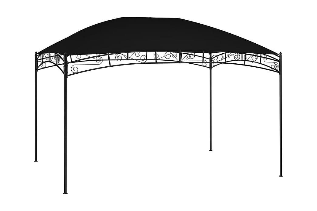 Paviljong 4x3 m antracit 180 g/m² - Antracit - Utemöbler - Solskydd - Paviljonger