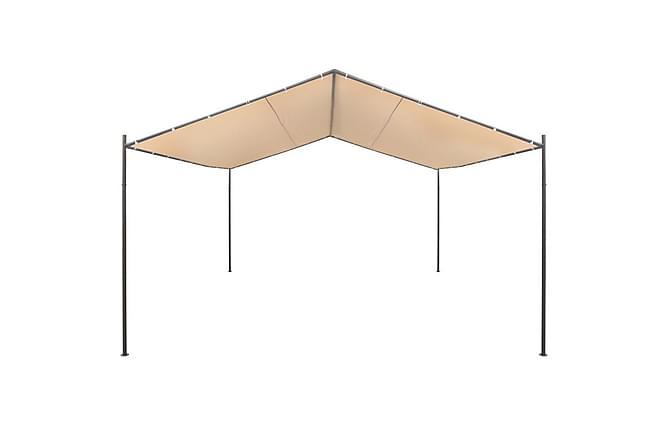 Paviljong 4x4 m stål beige - Beige - Utemöbler - Solskydd - Paviljonger