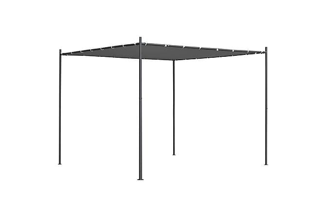 Paviljong med platt tak 3x3x2,4 m antracit - Grå - Utemöbler - Solskydd - Paviljonger