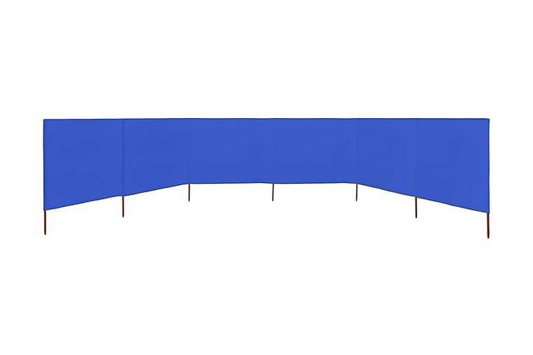 Vindskydd 6 paneler tyg 800x80 cm azurblå - Blå - Utemöbler - Solskydd - Insynsskydd & vindskydd