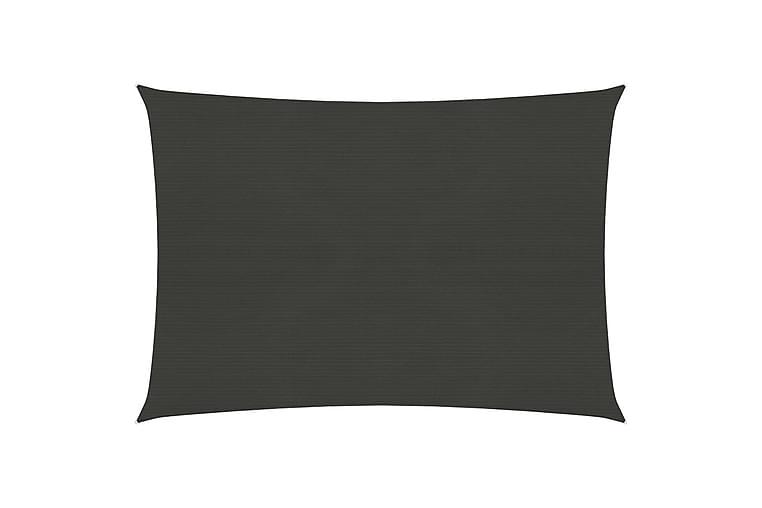 Solsegel 160 g/m² antracit 2,5x3,5 m HDPE - Antracit - Utemöbler - Solskydd - Solsegel