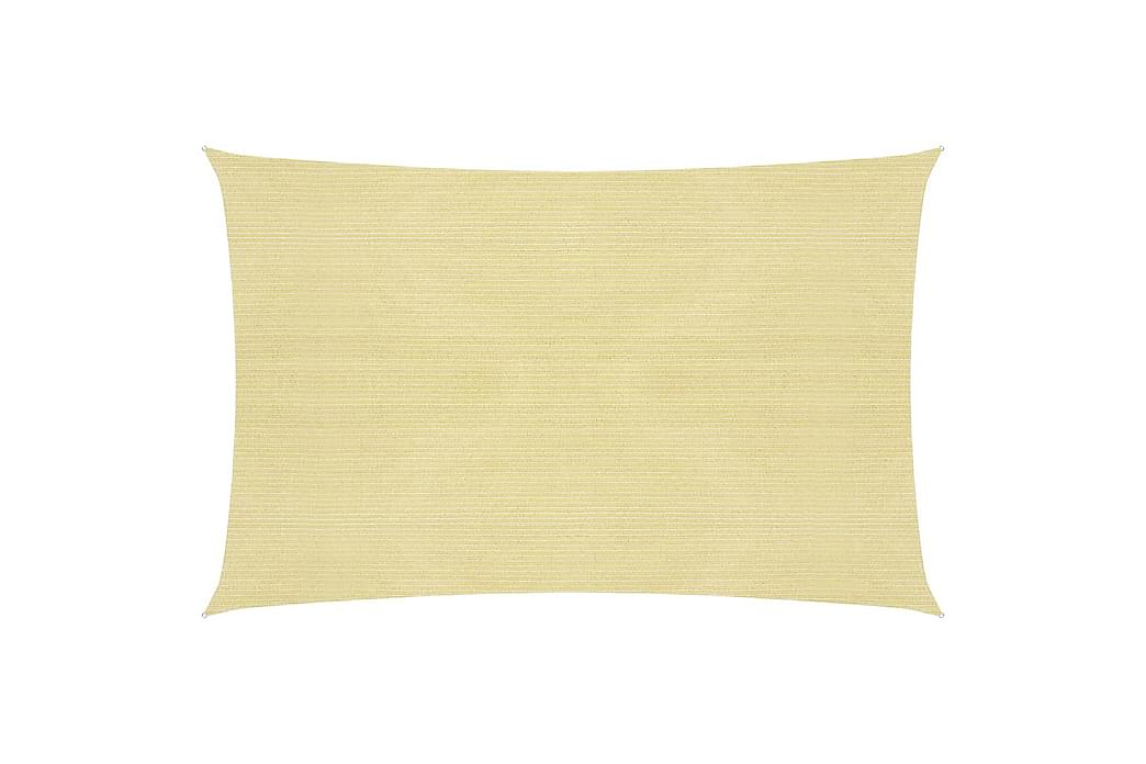 Solsegel 160 g/m² beige 3x4 m HDPE - Beige - Utemöbler - Solskydd - Solsegel