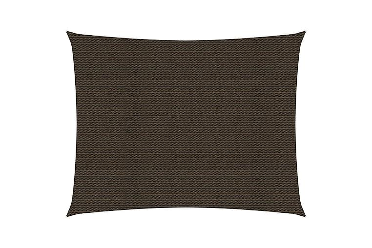 Solsegel 160 g/m² brun 3,5x4,5 m HDPE - Brun - Utemöbler - Solskydd - Solsegel