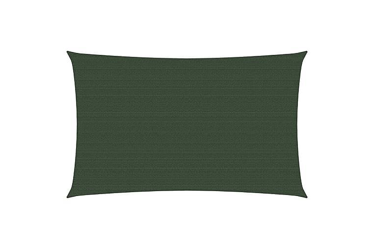 Solsegel 160 g/m² mörkgrön 3,5x5 m HDPE - Grön - Utemöbler - Solskydd - Solsegel