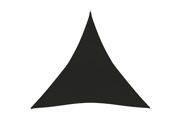 Solsegel 160 g/m² svart 4x4x4 m HDPE - Svart - Utemöbler - Solskydd - Solsegel