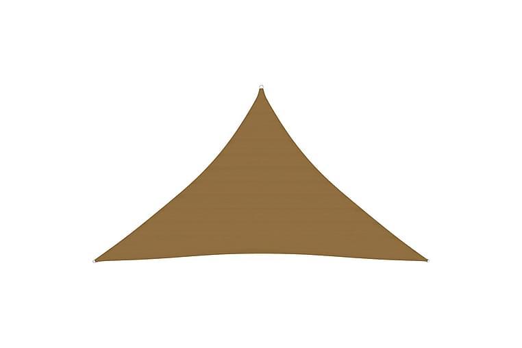 Solsegel 160 g/m² taupe 2,5x2,5x3,5 m HDPE - Taupe - Utemöbler - Solskydd - Solsegel