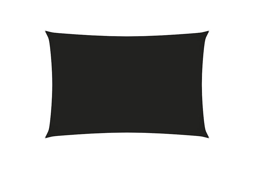 Solsegel oxfordtyg rektangulärt 2,5x5 m svart - Svart - Utemöbler - Solskydd - Solsegel
