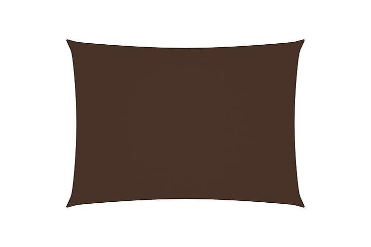 Solsegel oxfordtyg rektangulärt 3,5x4,5 m brun - Brun - Utemöbler - Solskydd - Solsegel