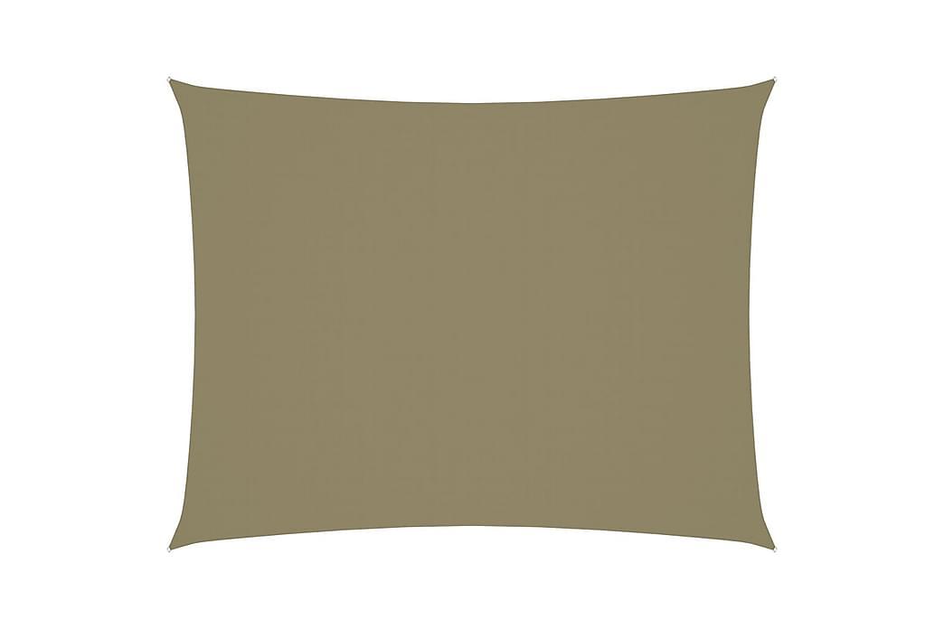 Solsegel oxfordtyg rektangulärt 3x4 m beige - Beige - Utemöbler - Solskydd - Solsegel