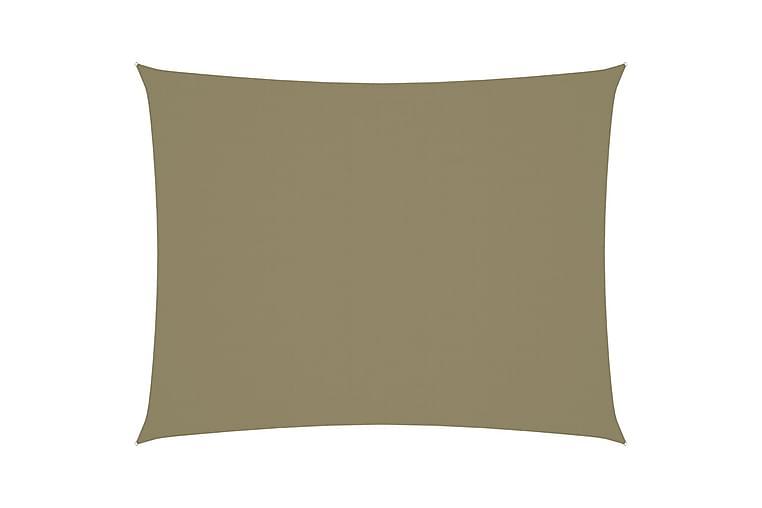 Solsegel oxfordtyg rektangulärt 3x4,5 m beige - Beige - Utemöbler - Solskydd - Solsegel