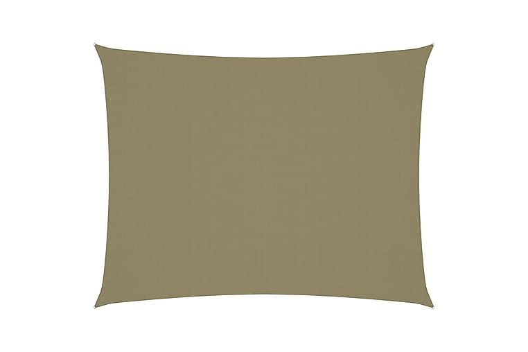 Solsegel oxfordtyg rektangulärt 6x8 m beige - Beige - Utemöbler - Solskydd - Solsegel