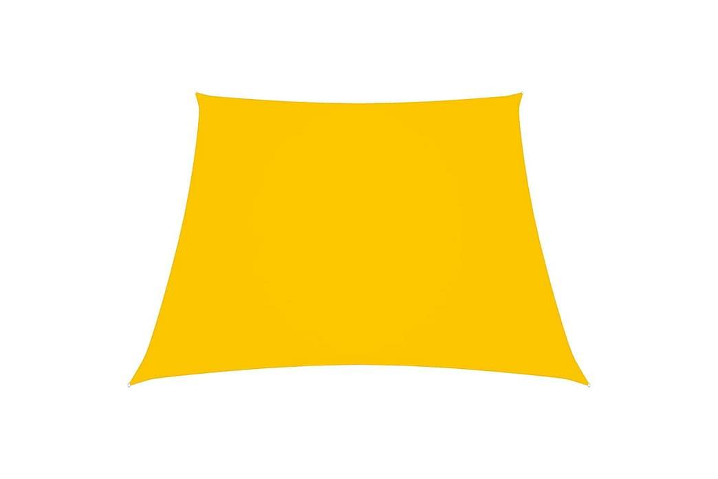 Solsegel oxfordtyg trapets 3/4x3 m gul - Gul - Utemöbler - Solskydd - Solsegel