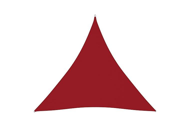 Solsegel oxfordtyg trekantigt 3x3x3 m röd - Röd - Utemöbler - Solskydd - Solsegel