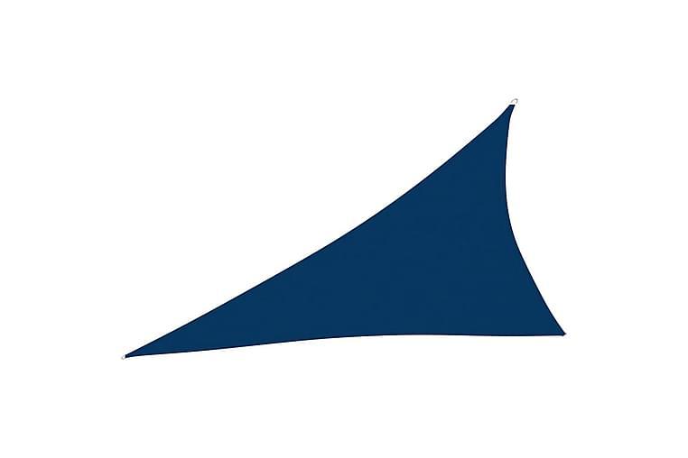 Solsegel oxfordtyg trekantigt 3x4x5 m blå - Blå - Utemöbler - Solskydd - Solsegel