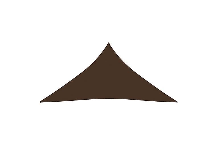 Solsegel oxfordtyg trekantigt 5x5x5 m brun - Brun - Utemöbler - Solskydd - Solsegel