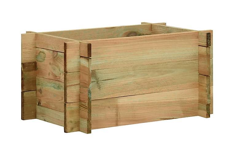 Odlingslåda impregnerad furu 40 cm - Brun - Utemöbler - Tillbehör - Utomhuskrukor