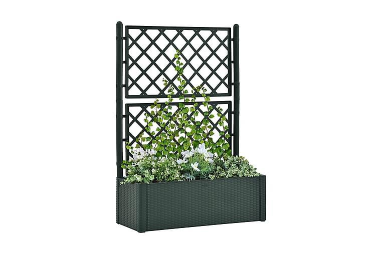 Odlingslåda med spaljé och självbevattning grön - Grön - Utemöbler - Tillbehör - Utomhuskrukor