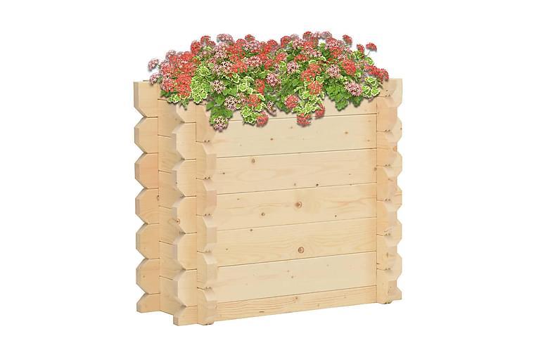 Upphöjd odlingslåda 42 mm 100x50x87,8 cm massivt granträ - Brun - Utemöbler - Tillbehör - Utomhuskrukor