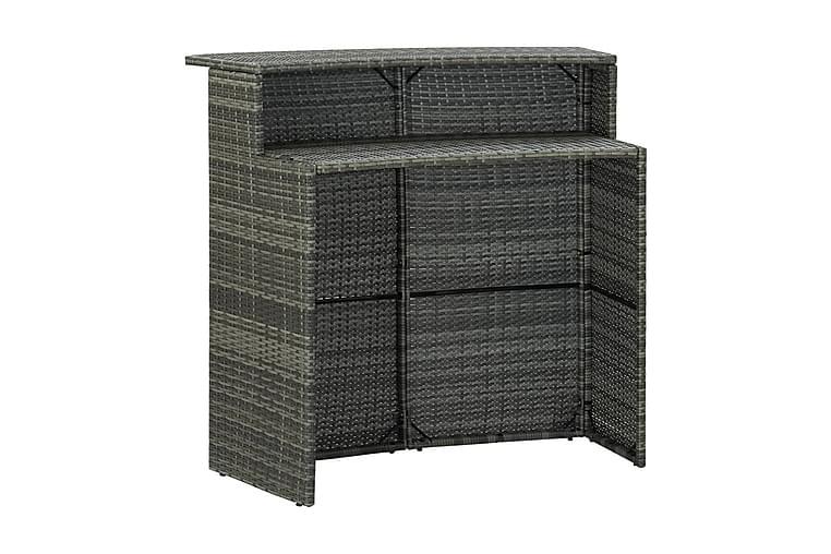Barbord för trädgård grå 120x55x110 cm konstrotting - Grå - Utemöbler - Utebord - Barbord