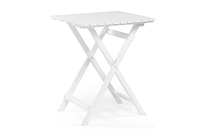 Åre Cafébord Vit - vitlaserad akasia - Utemöbler - Utebord - Cafébord