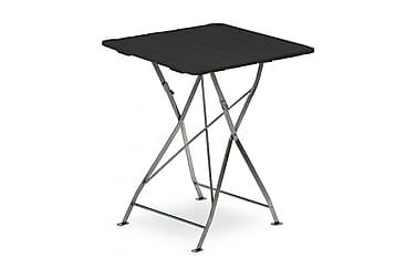 Cafébord Krögaren 70x70 cm Svartlaserad/zink