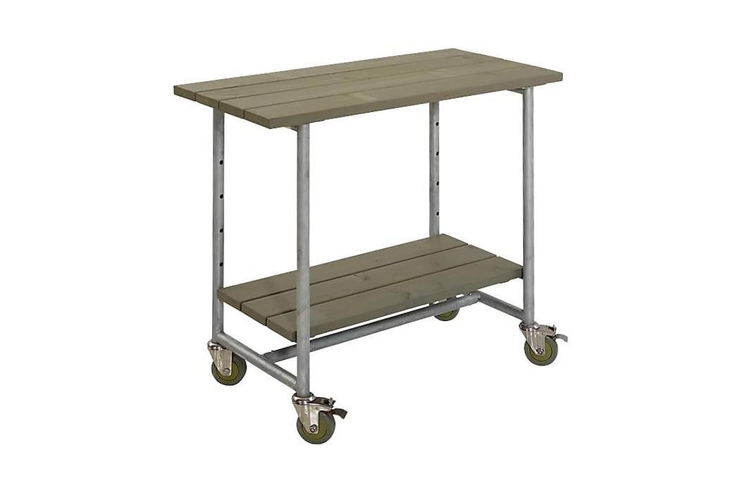 Urban grillbord med 1 hylla - Mörkbrun - Utemöbler - Utebord - Grillbord